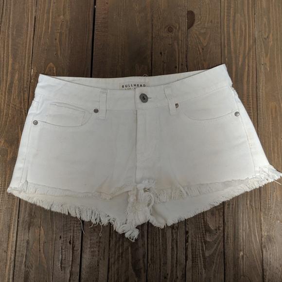 Bullhead Pants - Bullhead white Jean shorts